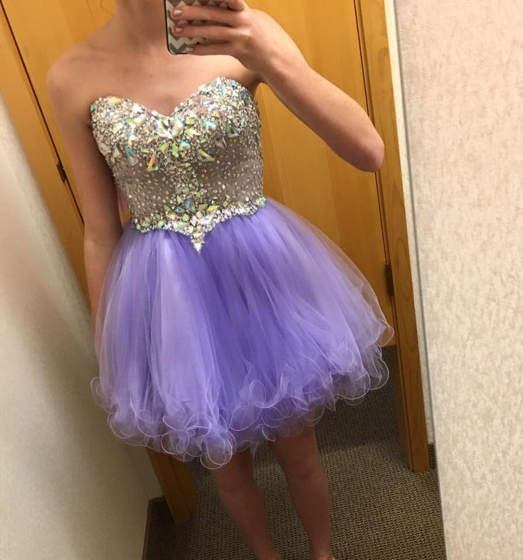 Buy Bling Rhinestone Purple Short Prom Dress 2015 Ruffles Organza Sweetheart Puffy Mini Dress Custom Made from Reliable dress lips suppliers on Suzhou Relia Formal Dress  | Alibaba Group