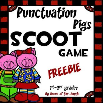 This Free game is a fun whole group activity that allows students to practice, review, or assess their knowledge of punctuation skills. Includes 24 SCOOT cards, recording sheets and answer keys.