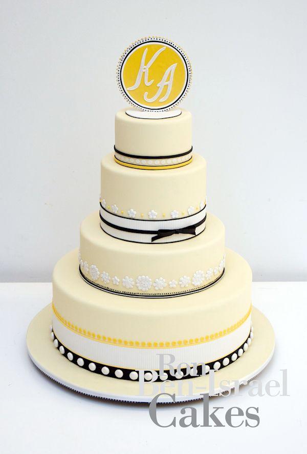 Yellow Wedding Cakes - Bitsy Bride (shared via SlingPic)