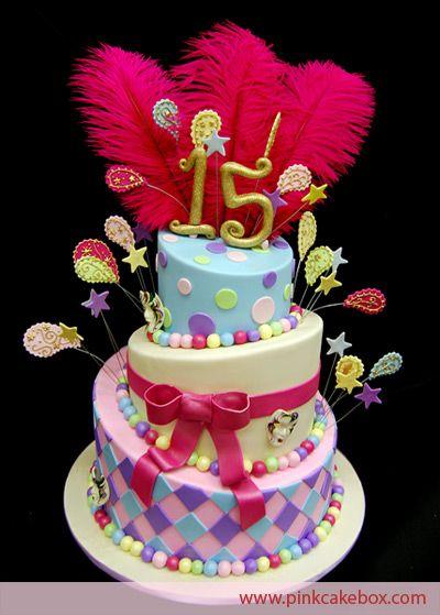 Quinceanera Sweet 15 Birthday Cake