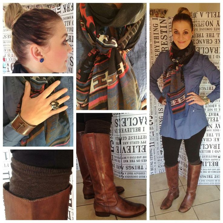 Scarf: Style36. Blouse: Woolworths. Riding pants style ...
