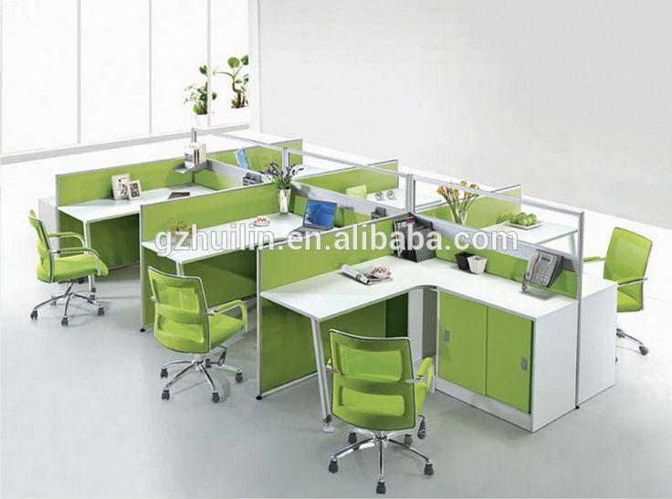 nuevo diseo de escritorio de oficina moderna y particin de la