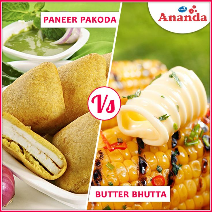 #Monsoon is the most beautiful season, and so is the food for #rainyseason . What would you love to eat this rainy season - A) Paneer Pakoda B) Butter Bhutta