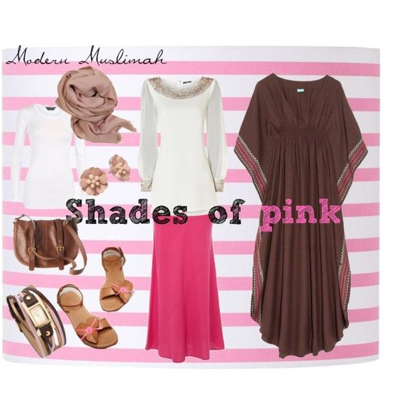 Shades of Pink kaftan outfit - private to public muslimah style