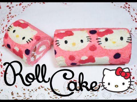➭ ¿Como hacer un Roll Cake? ♥︎ Roll Cake de Hello Kitty ♡ Miranda Ibañez - YouTube
