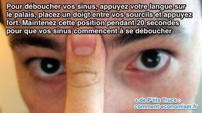 Comment déboucher les sinus et le nez avec un massage