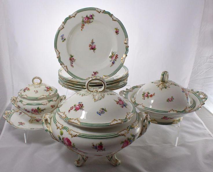 Antique c1891-1920 Coalport for A.Daniell Porcelain Dinner Service 24 Pieces & 109 best Coalport images on Pinterest   Dishes Porcelain and Tea pots