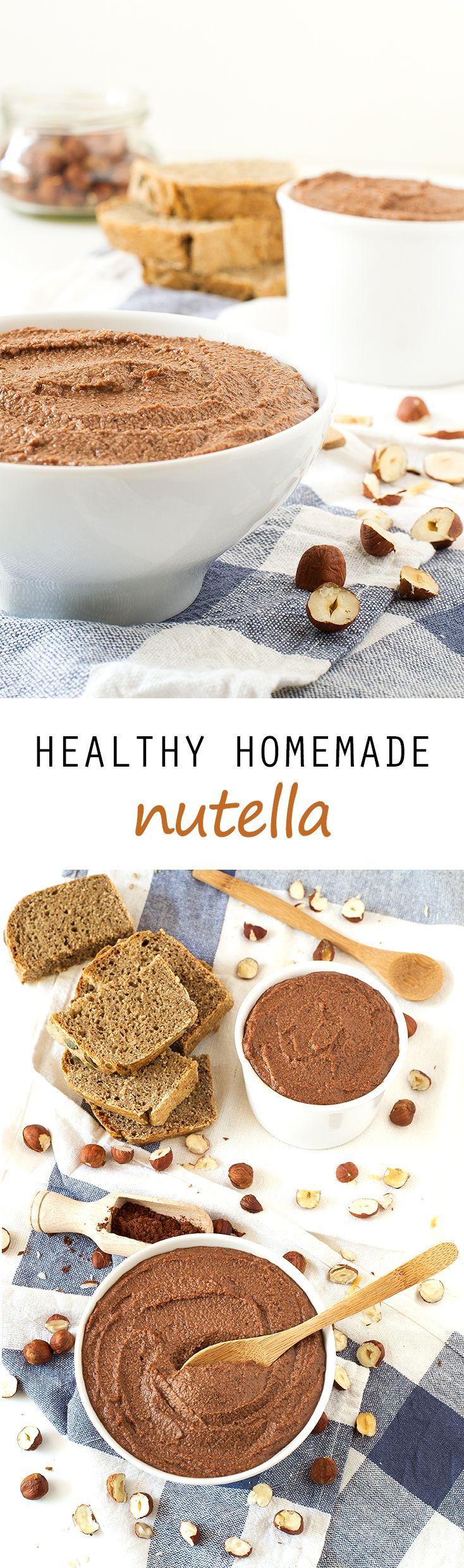 Healthy Homemade Nutella #vegan #glutenfree