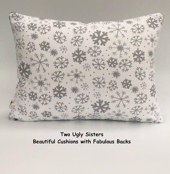 Christmas Cushion Decorative Snowflake Pillow Cushion Pillow