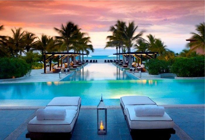 Luxus garten  luxus pool großer luxus pool im garten | Luxuriöse Designs von ...