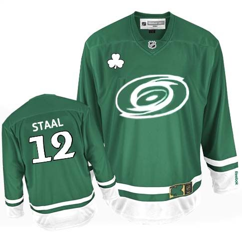 Carolina Hurricanes Eric Staal 12 Green Authentic Jersey Sale