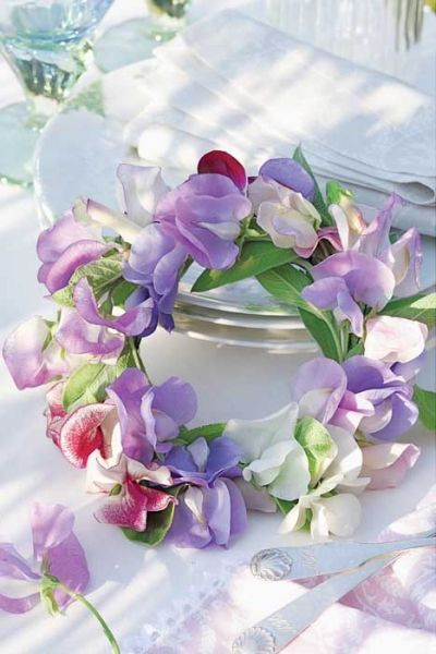 """Happy Wednesday. Thanks for the theme sweet Belinda ♥ Today let's do a """"Sweet Pea Cottage"""" inside & out in pink, lavender & white. ♥♥ ~Dee"""