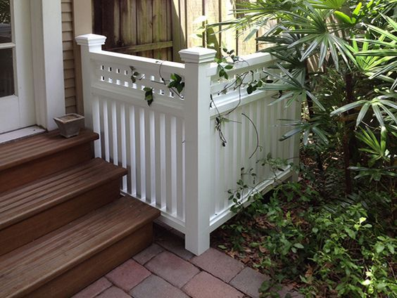 This 2-sided cover will not only work for concealing your ac condenser, but is attractive enough to hide items in the front yard.