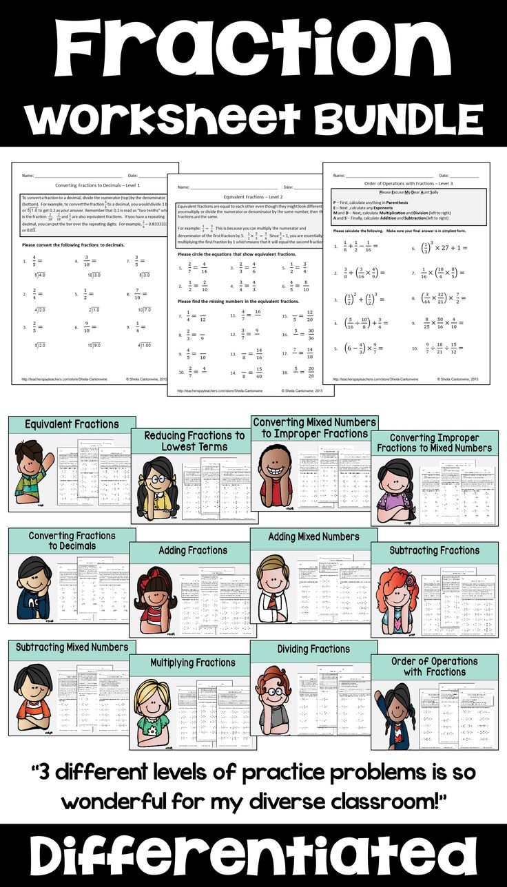 Workbooks mixed number and improper fraction worksheets : The 25+ best Fractions worksheets ideas on Pinterest | Math ...