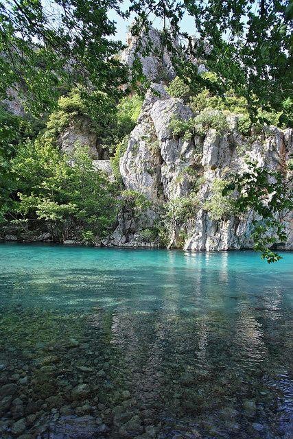 Voidomatis river in Zagoria, Epirus, Greece