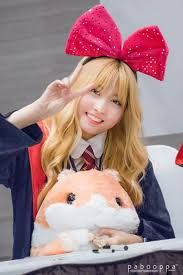 Omomo...... So cute! (I mean the soft toy and Momo from Twice)