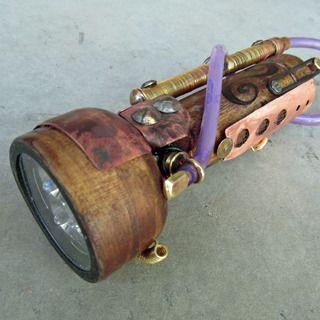 Craziest #flashlight ever! Love the steampunk #gadgets