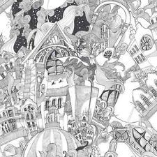 Graham and Brown New Wave Lizzies Doodles Black White Urban London Wallpaper