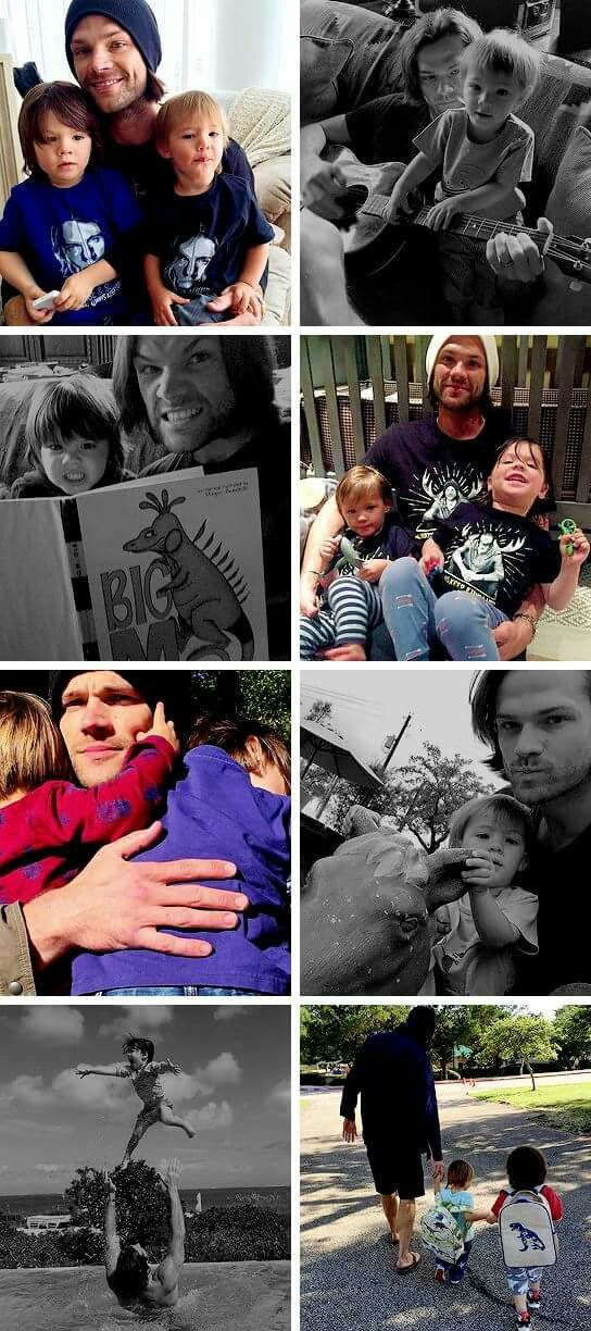 Jared and his kids: Tom and Shep