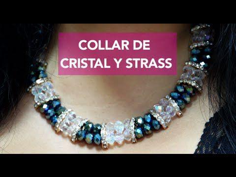 Como hacer un Collar con Cristales y Strass : Pekas Creaciones - YouTube