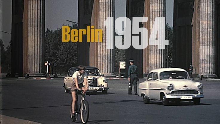 Berlin 1957 - 1960 color -  Berlin Ost & West vor dem Mauerbau - Berlin ...