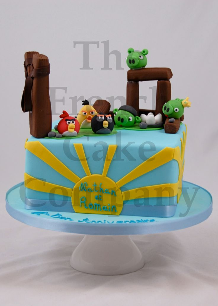 17 best images about g teaux angry birds on pinterest yoda cake birthday cakes and birthdays - Gateau anniversaire garcon ...