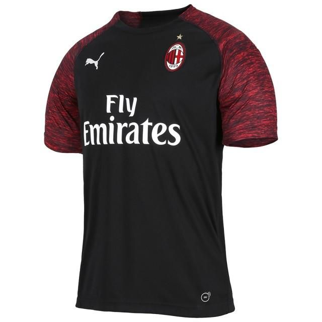 A C Milan Rossoneri Third 2018 19 Futbol Soccer Club Kit Shirt Football Jersey Fussball Camisa Trikot Maill Camisa De Futebol Camisa Milan Camisas De Futebol