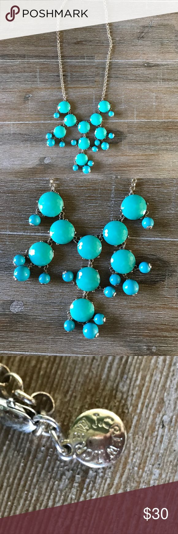 Authentic J. Crew Turquoise Bubble Necklace The smaller version of the popular J. Crew bubble necklace! Was really hard to get my hands on when they first came out, but it's finally time to pass it along to a new fashionable home! J. Crew Jewelry Necklaces