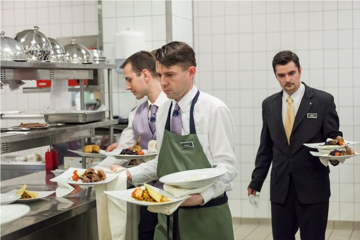 Team members are ready to serve the #lunch at Brasserie. #Budapesthotel #CorinthiaExperience