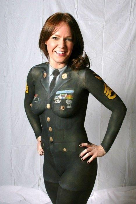 The military body paint babes are smoking hot and a true meaning of the words democracy, independence and sexuality. These military body paint girls will make you absolutely want to stand up and salute as you admire their incredible bodies and the tremendous attention to detail. Army, Navy, Air Force, Marines, we've got it all covered.