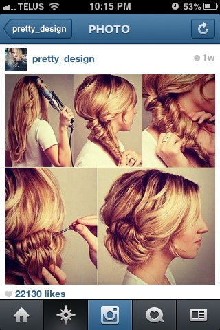 easy and simple but cute style when you need to hurry up and get to church!!