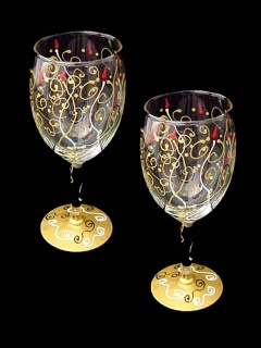 1000 images about crafts and gifts on pinterest thank for What paint do you use to paint wine glasses