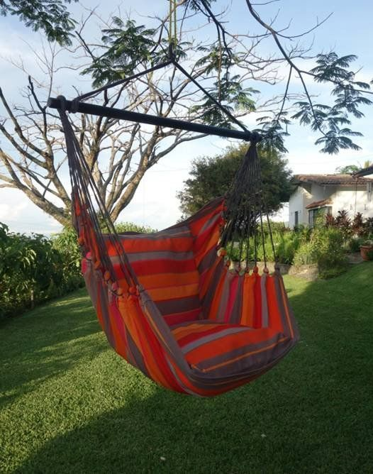 Beautiful Extra Large Hammock Chair That Is Mold And Fade Resistant Artisan Hand Crafted Fabric To