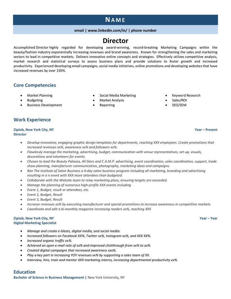 Director resume example guideyour complete guide on how