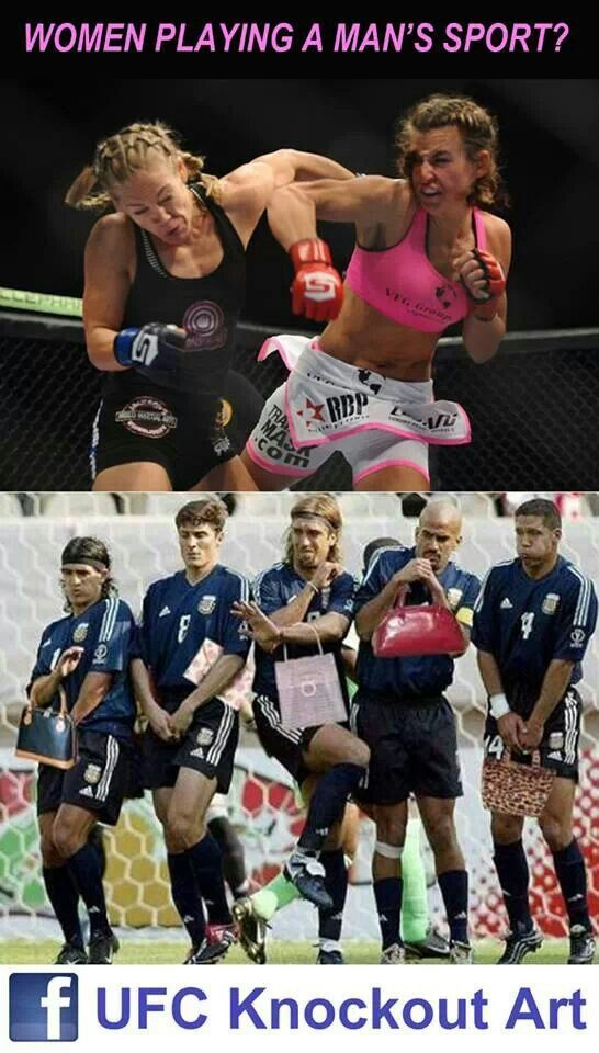 Women MMA vs Men Football - Funny stuff
