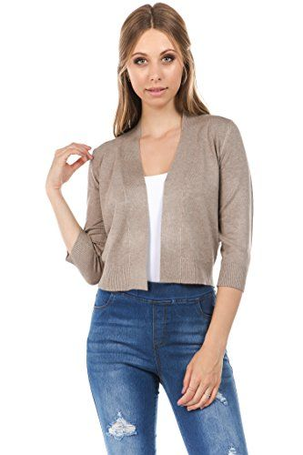 57e8de0663 Beautiful CIELO Women's Soft Solid Open Front 3/4 Sleeve Sweater Cardigan  online. [$28.99] weloveoffer from top store