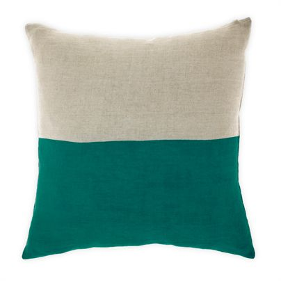 Dipped cushion in Teal 50cm