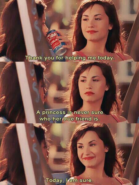 Demi Lovato and Selena Gomez in 'Princess Protection Program'