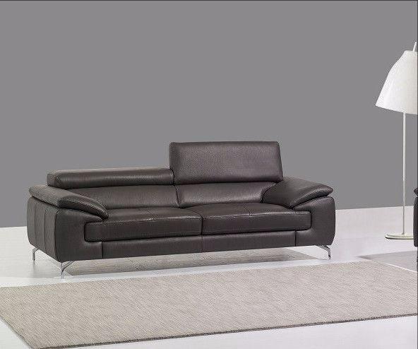 J&M Furniture A973 Premium Slate Grey Leather Sofa SKU17906112 For $1439