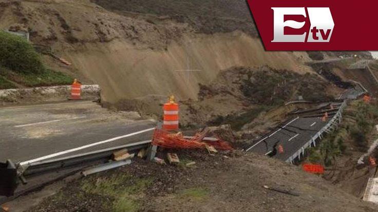 Hundimiento en la autopista Ensenada-Tijuana / Titulares de la tarde con... Les había mencionado que del 20 al 25 de dic ocurreun temblor por el cambio de temperatura, estaremos con trafico lento por un año para llegar a los US. El temblor debilito la autopista hacia US y colapso.