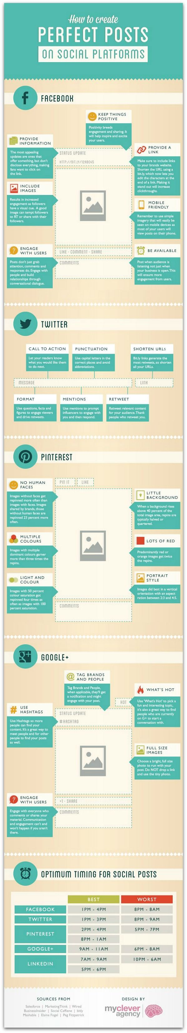 How to create perfect social media posts #infographic