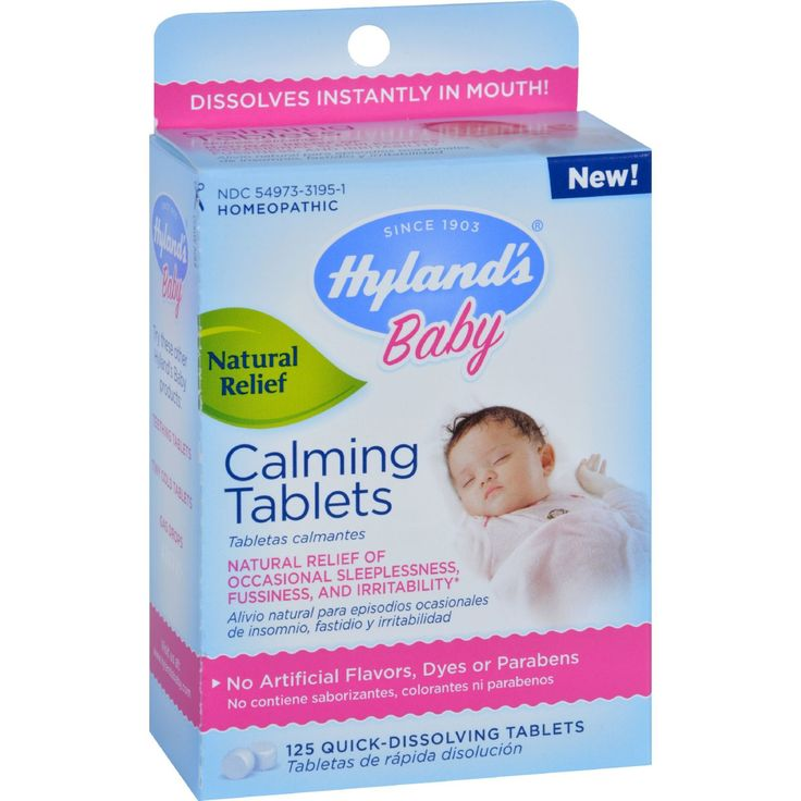 Hylands Homeopathic Calming Tablets - Baby - 125 Quick-Dissolving Tablets - Babies get fussy. It's a natural response to being in a totally new world. Couple that with occasional sleeplessness, and you've got an irritable little person that needs natural calming medicine to settle his or her system. Baby Calming Tablets are the go-to, safe and effective solution that Moms depend on, day and night. Go ahead – bring on the calm!* The uses for our products are based on traditional homeopathic…