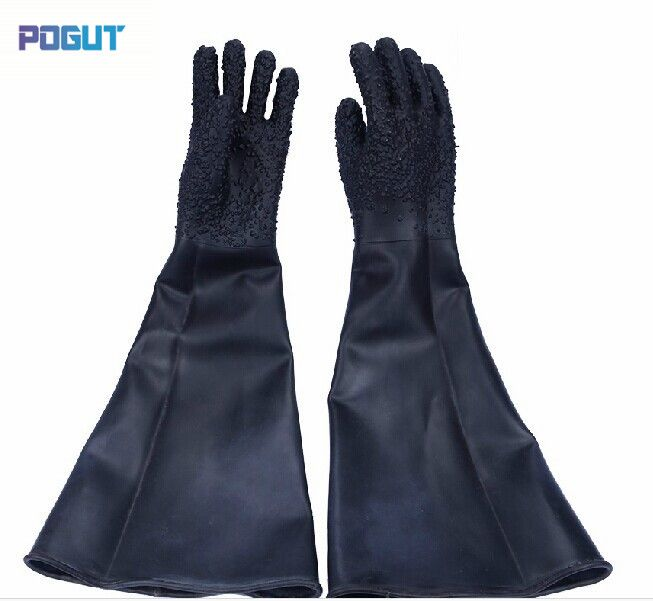 Free shipping Professional sandblasting machine glove protective glove 65cm length, latex industrial gloves #Affiliate