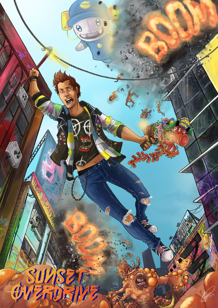 Sunset overdrive contest Spain by Ioana-Muresan on deviantART