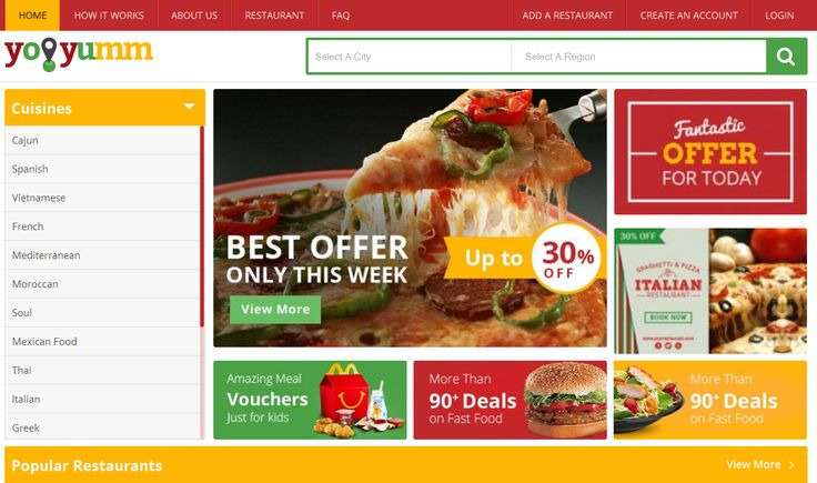Launch Your Online Food Ordering Website With Advanced Features Using YoYumm Starting From 499