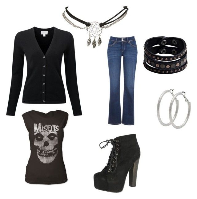 """""""Rock Concert Wear"""" by karen-mchale on Polyvore featuring Levi's, Breckelle's, Replay, Wet Seal and M&Co"""
