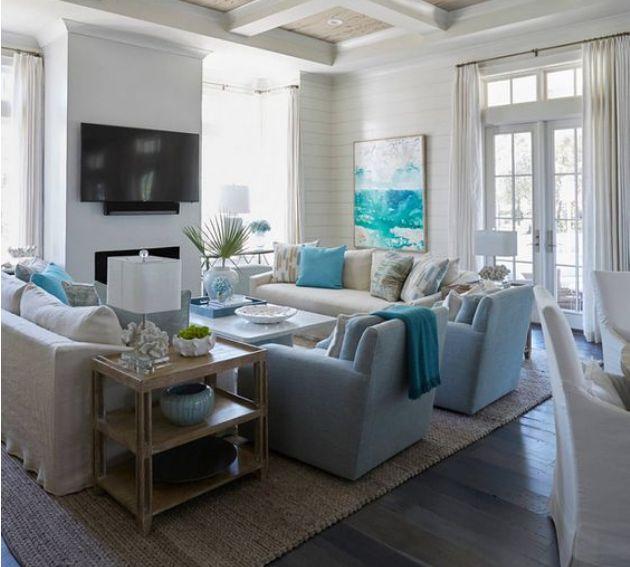 7 Inspirational Ideas For Decorating Beach Themed Living Room   Home Design Ideas