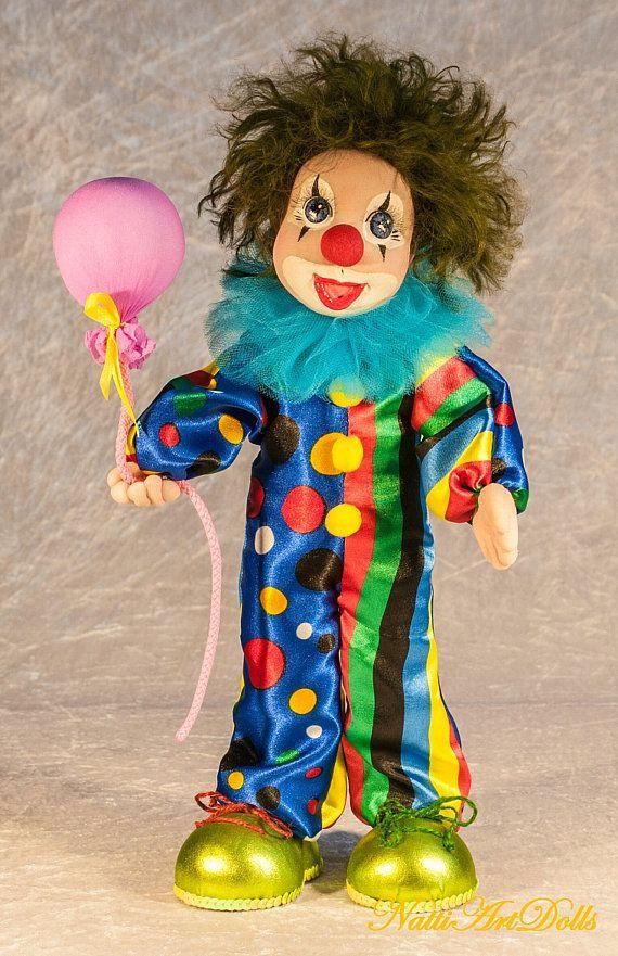 Interior Doll Clown Boy Sculptured Doll Themed Dolls Art