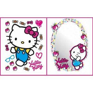 Hello kitty falmatrica + tükör 2 db-os szett