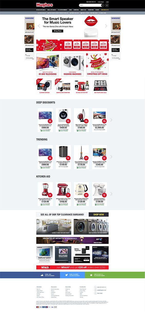 Shopware Design, Shopware Theme, Shopware Shop, eCommerce, eCommerce Software, eCommerce platform, Onlineshop, Interior, Washing machines, TVs, HIFI Systems, Hughes